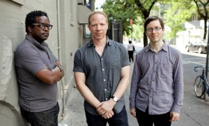 Gerald Cleaver, Craig Taborn, and Thomas Morgan. Photo by John Rogers, courtesy of ECM.