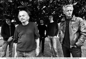 TRIBE: Gianluca Petrella, Enrico Rava, Giovanni Guidi, Gabriele Evangelista, Fabrizio Sferra. Photo © Luca d'Agostino/ECM Records