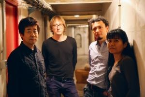 Kaze: Natsuki Tamura, Peter Orins, Christian Pruvost, and Satoko Fujii. Photo by Alexander Norclain.