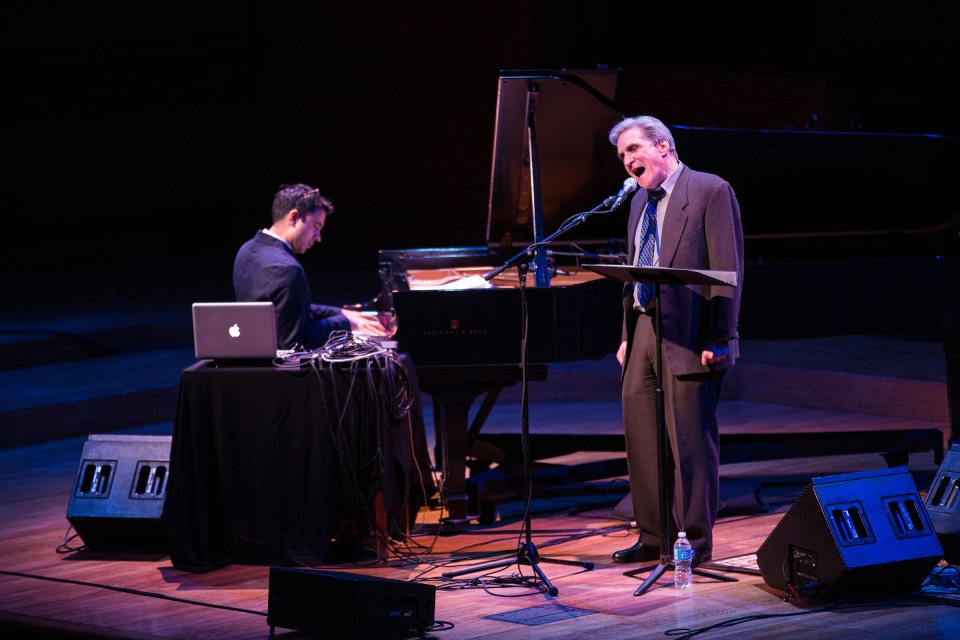 Robert Pinsky in full yawp. Photo by Robert Torres. Courtesy of Celebrity Series of Boston.