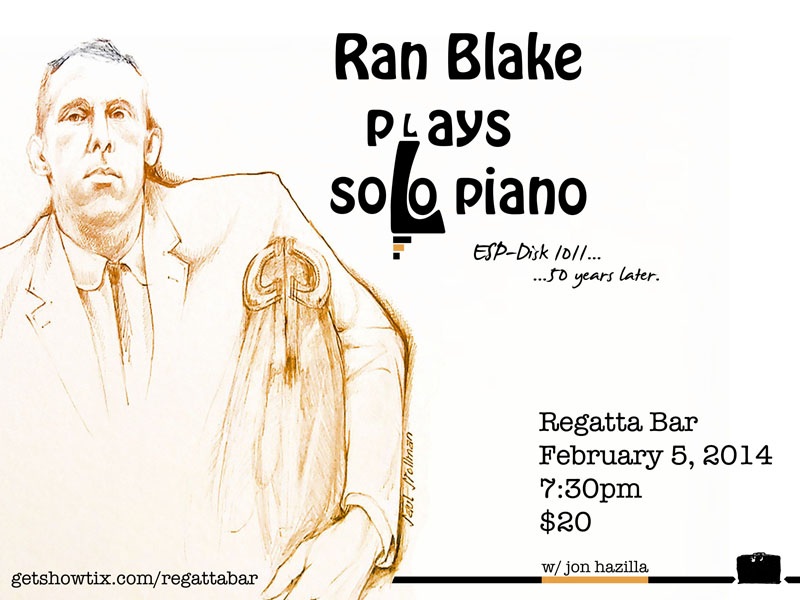 Cover image from Ran Blake's 1964 ESP-Disk, celebrated the Regattabar.